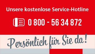 Unsere Service-Hotline 08005634872